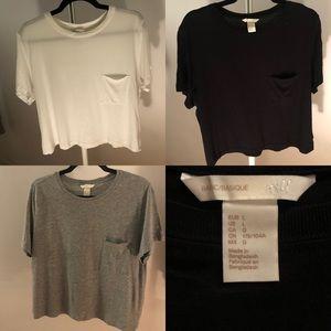 3 H&M Basic ShortSleeve T-Shirts